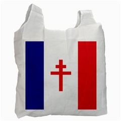 Flag Of Free France (1940 1944) Recycle Bag (one Side)