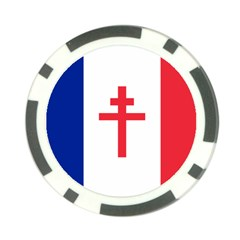 Flag of Free France (1940-1944) Poker Chip Card Guard (10 pack)