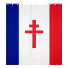 Flag Of Free France (1940 1944) Shower Curtain 66  X 72  (large)