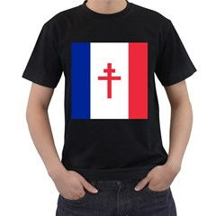 Flag Of Free France (1940 1944) Men s T Shirt (black)