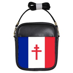 Flag Of Free France (1940 1944) Girls Sling Bags