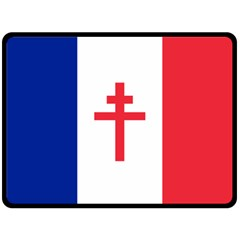 Flag Of Free France (1940 1944) Fleece Blanket (large)