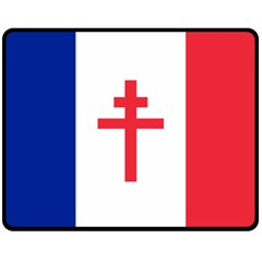 Flag Of Free France (1940 1944) Fleece Blanket (medium)