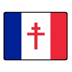 Flag Of Free France (1940 1944) Fleece Blanket (small)