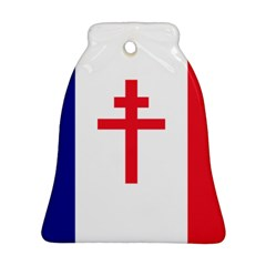 Flag Of Free France (1940 1944) Bell Ornament (two Sides)