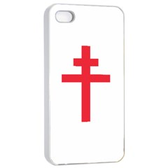 Flag of Free France (1940-1944) Apple iPhone 4/4s Seamless Case (White)