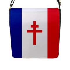 Flag of Free France (1940-1944) Flap Messenger Bag (L)
