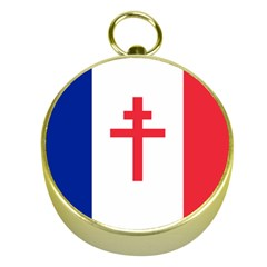 Flag of Free France (1940-1944) Gold Compasses