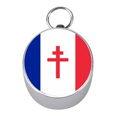 Flag Of Free France (1940 1944) Mini Silver Compasses