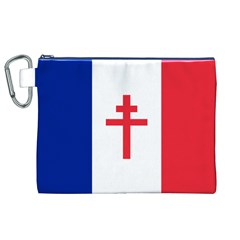 Flag Of Free France (1940 1944) Canvas Cosmetic Bag (xl)