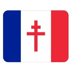 Flag of Free France (1940-1944) Double Sided Flano Blanket (Large)