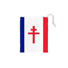 Flag of Free France (1940-1944) Drawstring Pouches (XS)