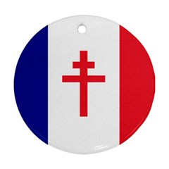 Flag of Free France (1940-1944) Ornament (Round)