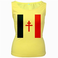 Flag of Free France (1940-1944) Women s Yellow Tank Top