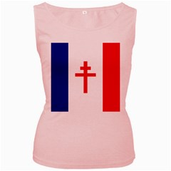 Flag Of Free France (1940 1944) Women s Pink Tank Top