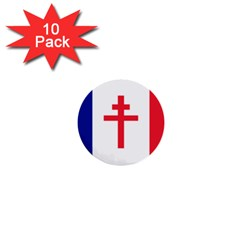 Flag Of Free France (1940 1944) 1  Mini Buttons (10 Pack)
