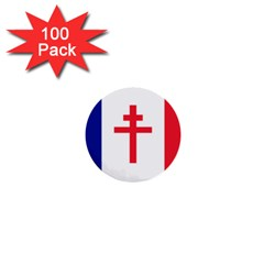 Flag Of Free France (1940 1944) 1  Mini Buttons (100 Pack)