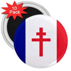 Flag of Free France (1940-1944) 3  Magnets (10 pack)