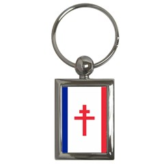 Flag Of Free France (1940 1944) Key Chains (rectangle)