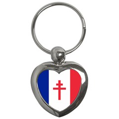 Flag Of Free France (1940 1944) Key Chains (heart)