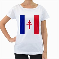 Flag of Free France (1940-1944) Women s Loose-Fit T-Shirt (White)