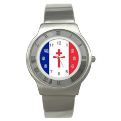 Flag Of Free France (1940 1944) Stainless Steel Watch