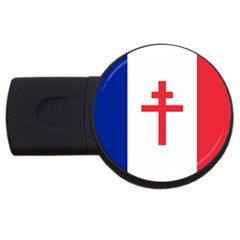 Flag of Free France (1940-1944) USB Flash Drive Round (4 GB)