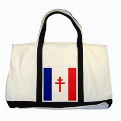 Flag of Free France (1940-1944) Two Tone Tote Bag