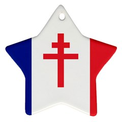 Flag of Free France (1940-1944) Star Ornament (Two Sides)