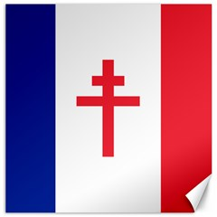 Flag of Free France (1940-1944) Canvas 12  x 12