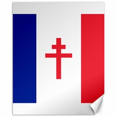 Flag Of Free France (1940 1944) Canvas 11  X 14