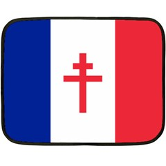 Flag Of Free France (1940 1944) Double Sided Fleece Blanket (mini)