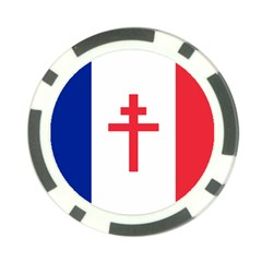 Flag Of Free France (1940 1944) Poker Chip Card Guard (10 Pack)