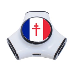 Flag of Free France (1940-1944) 3-Port USB Hub
