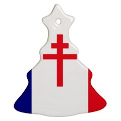 Flag Of Free France (1940 1944) Christmas Tree Ornament (two Sides)