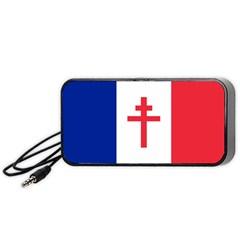 Flag Of Free France (1940 1944) Portable Speaker (black)