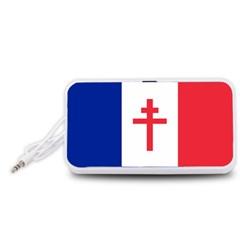 Flag Of Free France (1940 1944) Portable Speaker (white)