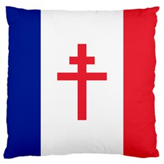 Flag of Free France (1940-1944) Large Cushion Case (Two Sides)