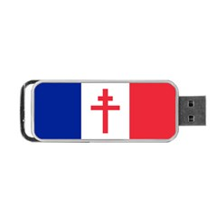 Flag Of Free France (1940 1944) Portable Usb Flash (two Sides)