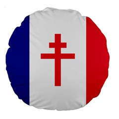 Flag Of Free France (1940 1944) Large 18  Premium Round Cushions