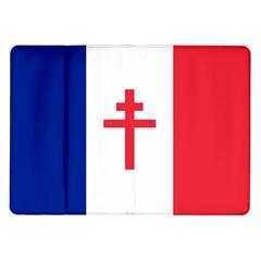 Flag Of Free France (1940 1944) Samsung Galaxy Tab 10 1  P7500 Flip Case