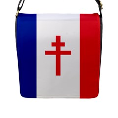 Flag Of Free France (1940 1944) Flap Messenger Bag (l)