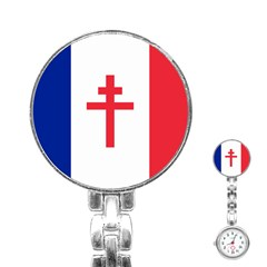 Flag Of Free France (1940 1944) Stainless Steel Nurses Watch