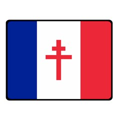 Flag of Free France (1940-1944) Double Sided Fleece Blanket (Small)