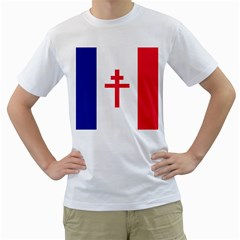 Flag Of Free France (1940 1944) Men s T Shirt (white)