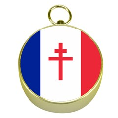 Flag Of Free France (1940 1944) Gold Compasses