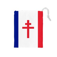 Flag of Free France (1940-1944) Drawstring Pouches (Medium)