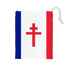 Flag of Free France (1940-1944) Drawstring Pouches (Large)