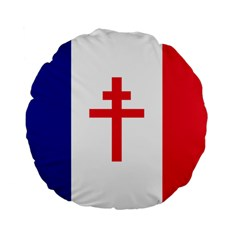 Flag Of Free France (1940 1944) Standard 15  Premium Flano Round Cushions