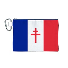 Flag Of Free France (1940 1944) Canvas Cosmetic Bag (m)